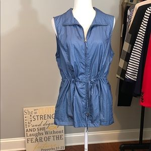 Weekend by Chico's sleeveless long vest
